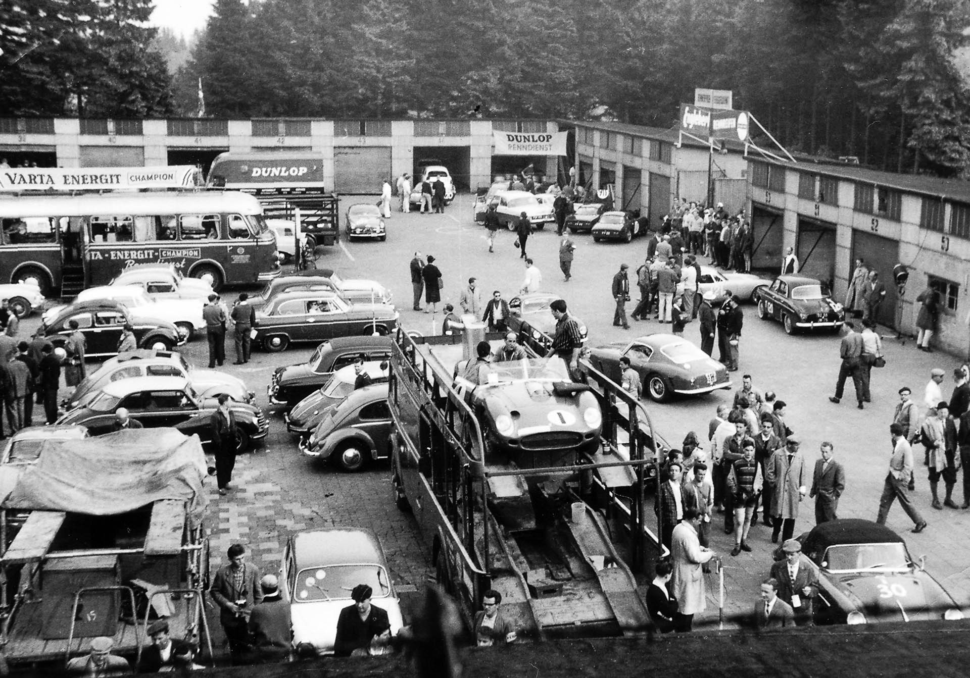 historisches Fahrerlager Nürburgring